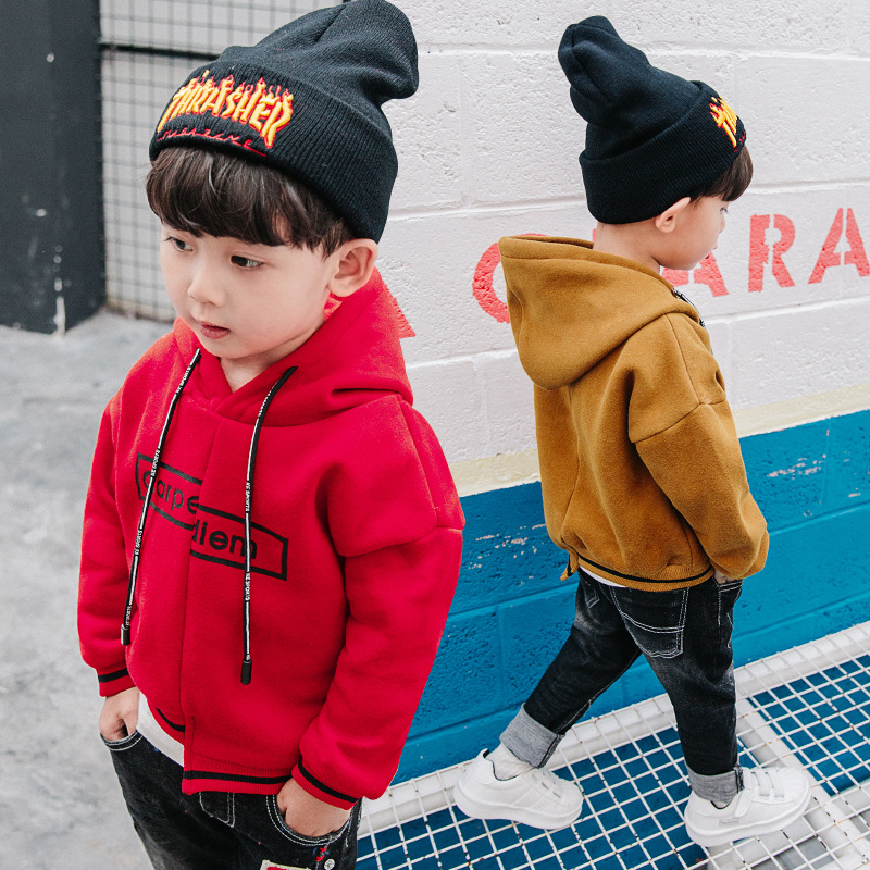 Kids Hoodies 2018 New Winter Warm boys sweatshirt Girls Outwear&Coats Long Sleeve Boys Hoodies Kids Tops Boys Sweater