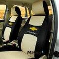 Universal tampa de assento do carro para chevrolet trailblazer acessórios tampas de assento sanduíche interior styling assentos conjunto de tampa com o logotipo