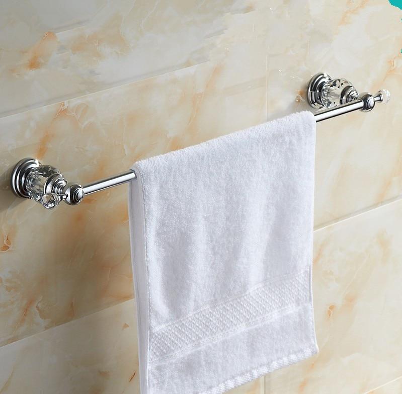 ФОТО 2016 Bathroom Accessories,Brass Material Brief  Chrome Finish Single Towel Bar&Towel Rack/ Unique crystal Style, Bath Hardware