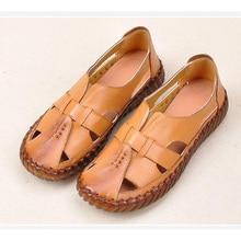 Summer Genuine Leather Handmade  Sandals
