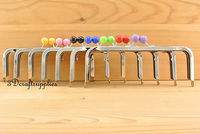 Metal Purse Frame Glue On Clasp Clip Set Of 7 Colors Silver 8 Inch X 3