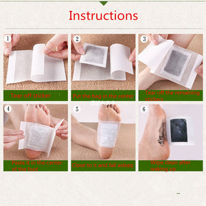 Image 4 - 20pcs=(10pcs Patches+10pcs Adhesives) Detox Medical Foot Patches Herbal plasters weight lose Feet Slimming Cleansing Foot Z08025