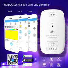 New LED Wifi Controller RGBW RGB+CCT 2 in 1 smart Strip Light Controller Compatible with Alexa Assistant for An iOS System все цены