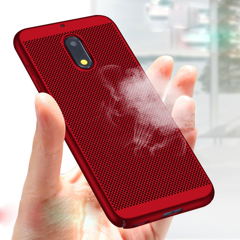 Heat Dissipation Case For Nokia <font><b>2</b></font> <font><b>5</b></font> 3 8 7 <font><b>6</b></font> 2018 Sirocco Ultra Thin Protective Back Cover Hollow Bumper Housing Capas image