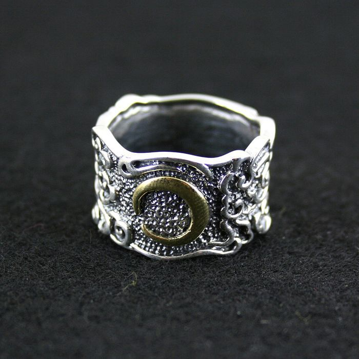 925 pure silver ring silver copper mix match thai silver ring male female vintage finger ring 925 pure silver ring crystal vintage ring thai silver rose manjaris women flower ring