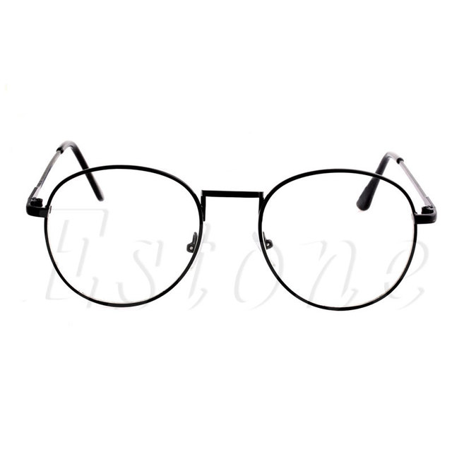e7dfa47cc8 2018 Unisex Fashion Women Girls Thin Metal Spectacle Frame Eyeglasses Clear  Lens Glasses New
