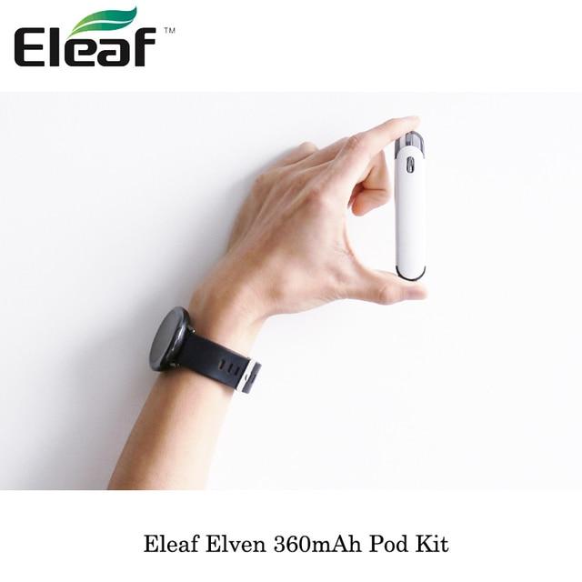 , Newest Cartridge Pod Vape Kit Eleaf Elven 360mAh Pod System Stareter Kit 1.6ohm coil electronic cigarette Vape e-cigs