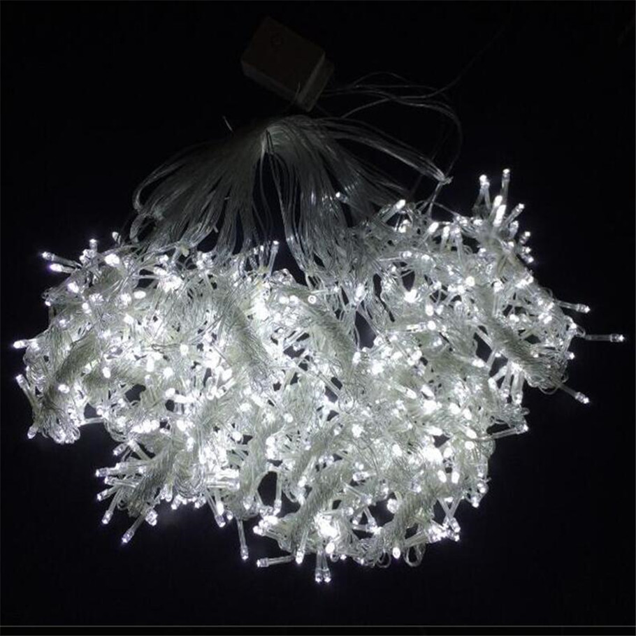 где купить 110V 3M x 3M 304 LED Outdoor Home Warm White Christmas Decorative xmas String Fairy Curtain Garlands Party Lights For Wedding дешево