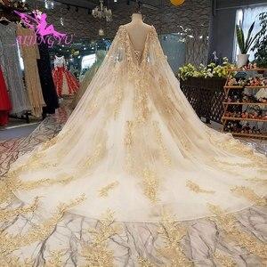Image 4 - AIJINGYU Made In Peru Muçulmano Vestido De Noiva Africano Vestidos Melhor Escova Vestidos Rosa Belos Vestidos de Casamento Do Inverno Do Vintage