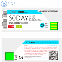 BSIDE BTHX60D Single Use USB Temperature Data Logger 60days Recorder IP67 Water Resistant Alarm For Agricultural