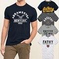 2015 Nueva moda de marca Famosa abercr para ombi hollistic hombres de la camiseta 100% algodón Camiseta de los hombres, estilo del verano t-shirt