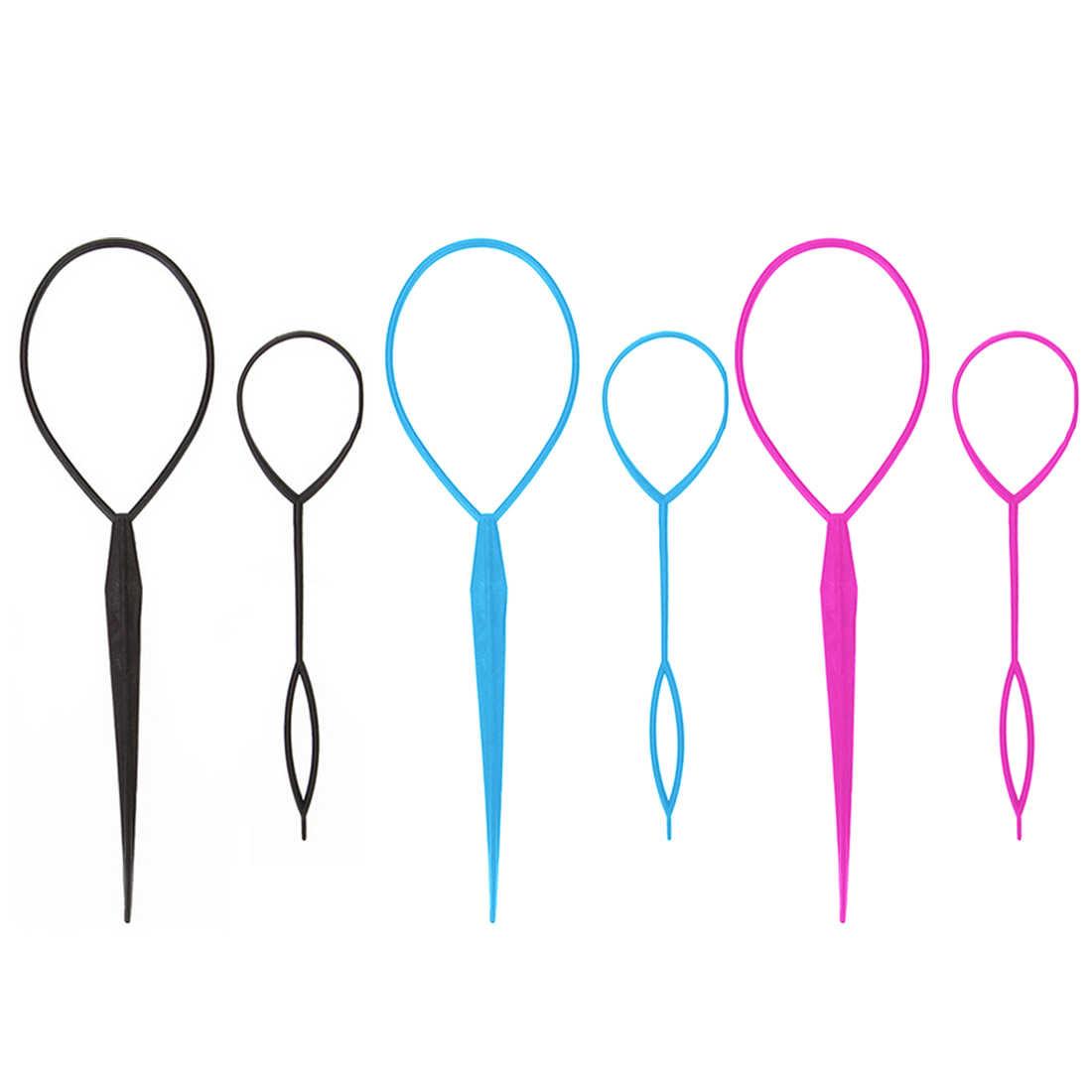 Straight Hair Needle Ponytail Hair Braider Creator Loop Styling Tail Clip Hair Braid Maker Styling Hairdressing DIY Tools