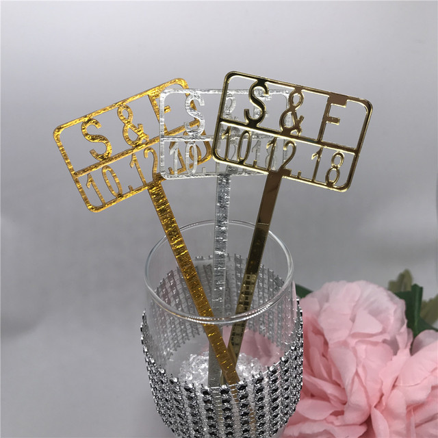 free shipping 12pcslot custom place cards acrylic drink stirrers escort cards wedding party bar - Custom Place Cards