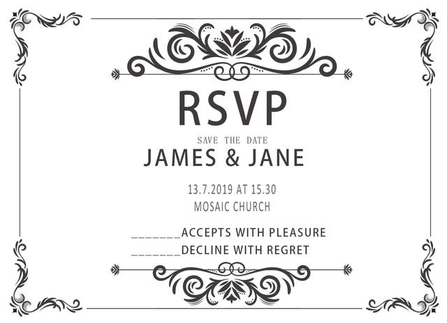10Pcs Design Blank Wedding Print RSVP Cards Paper Party Invitations