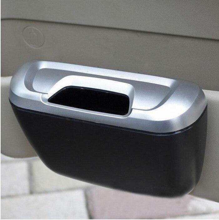 Auto spazzatura bidone Della Spazzatura Polvere Caso di Box Auto di Caso di Immagazzinaggio Garbage Dust Caso Scatola di Immagazzinaggio Auto Morsetto Case Sticker spazzatura può