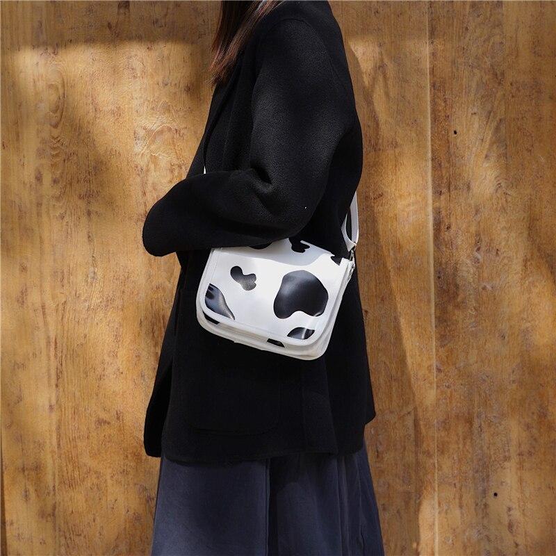 Women Cow Pattern Casual Small Crossbody Bags For Women Shoulder Bag Girl Cute Postman Cover Bag Handbags Messenger Bags