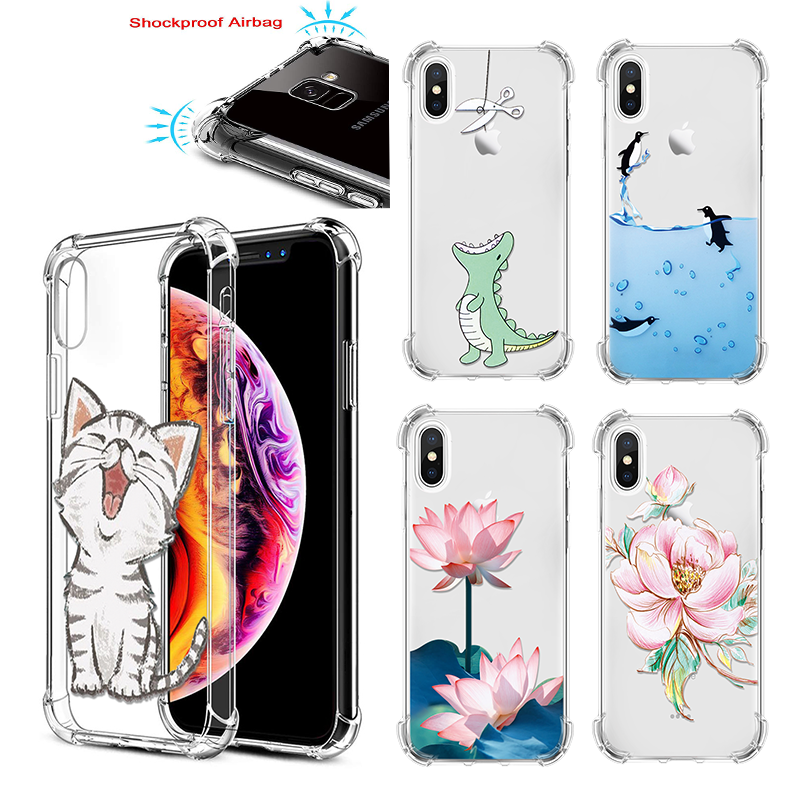 Cute Gasbag Case For Motorola Moto G7 Case For Moto E4 EU G5 G5S G6 G7 Plus Play Power One Silicone TPU Drop Proof Airbag Cover