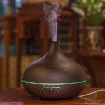 Humidificador y difusor aromático de grano de madera VVPEC 300ml aromaterapia para difusor de aceites esenciales para el hogar