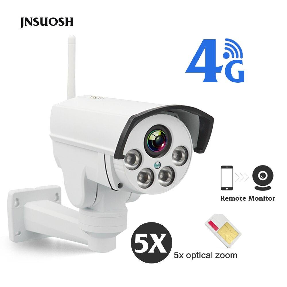 Full HD 1080 P 4G SIM Carte PTZ IP caméra 5X Zoom Vidéo Imperméable À L'eau En Plein Air 1080 P IP caméra CCTV caméras de sécurité 128G SD emplacement pour cartes
