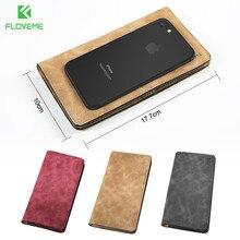 FLOVEME Телефон Чехлы Для iPhone 7 7 Plus 6 6 s Plus Samsung S8 S8 Плюс S7 S6 Край Роскошный PU Кожаный Бумажник Чехол Телефон Сумка