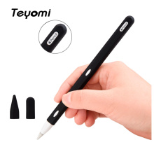 Teyomi For Apple Pencil 2 Case With 2pcs Nib Tip Cover,Soft Silicone Pen 2nd Generation iPad