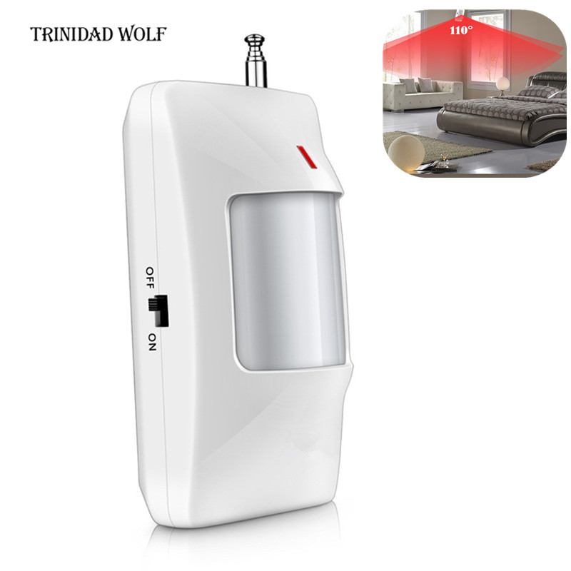 TRINIDAD WOLF 1pcs 433Mhz Wireless PIR Sensor/Motion Detector For Wireless GSM/PSTN Auto Dial Home Security Alarm System cy1s 25mm bore air slide type cylinder pneumatic magnetically smc type compress air parts coupled rodless cylinder parts sanmin