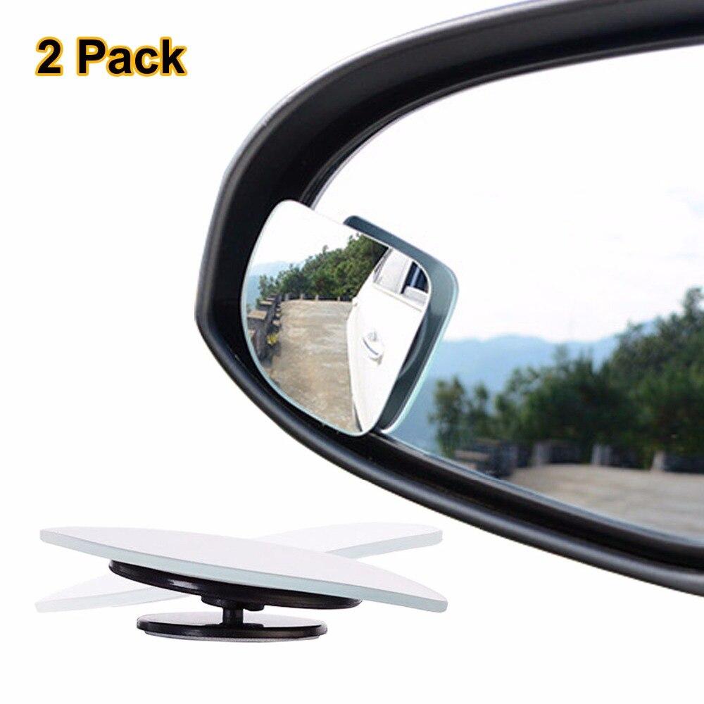 2pcs/lot Adjustable frameless HD Glass Car Blind Spot Mirror for parking Auxiliary Rear view mirror Fan Shape