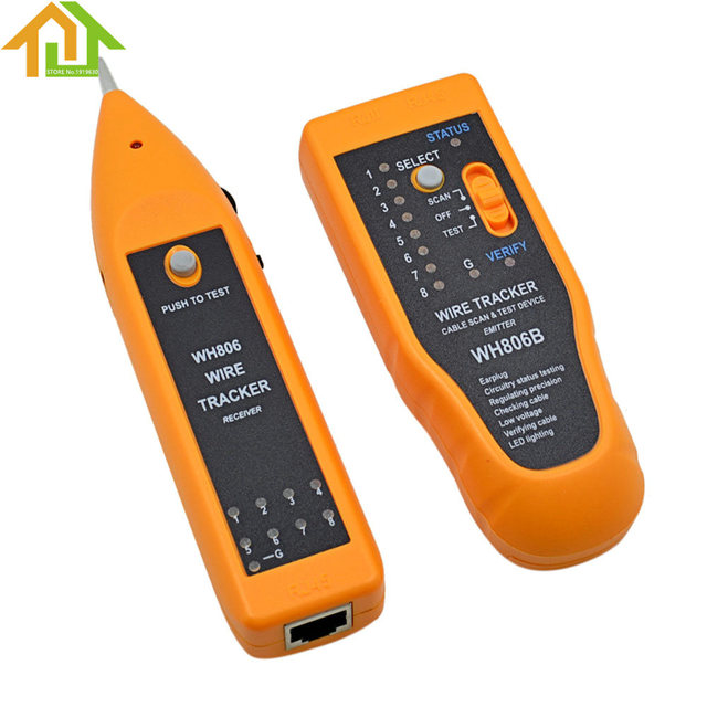 wh806b telephone wire tracker lan network cable tester for cat5 cat5e cat6  rj45 rj11 electrical line