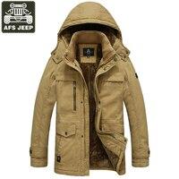 AFS JEEP Parka Winter Jacket Men Thick Warm Wool Liner Hooded Collar Casaco Masculino Winter Jacket