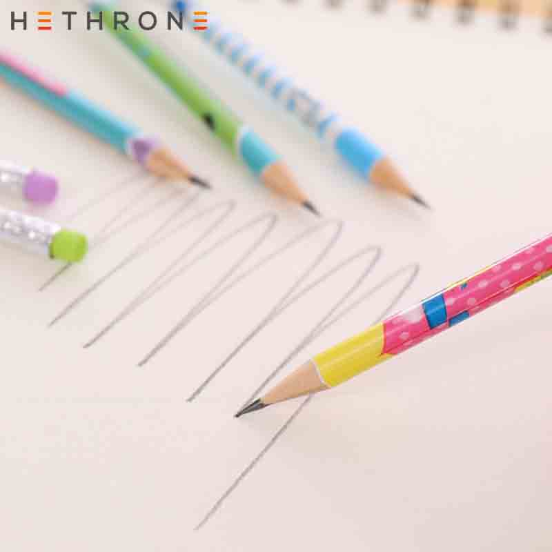 Image 5 - Hethrone 12pcs Animal wooden pencils for school Student writing drawing pencil set crayons sketch graphite lapices school items-in Standard Pencils from Office & School Supplies