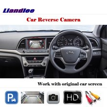 Liandlee Auto Rear Camera For Hyundai Elantra AD  Avante 2016-2018 / HD CCD Back Parking Camera Work with Car Factory Screen liislee for hyundai avante elantra hd 2006 2010 4 3 lcd monitor car rearview back up camera 2 in 1 car parking system