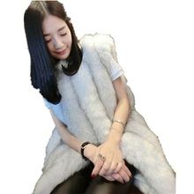 цены Faux Fur Vest Women's Winter Coat Of Artificial Fur Coats 2017 Fashion Mink Coat Vest Waistcoat Fur Sleeveless Jacket Warm Vests