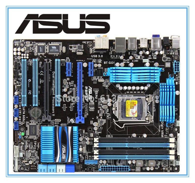 ASUS P8P67 100% original motherboard   DDR3 LGA 1155 RAM 32G motherboards SATA3.0 USB3.0 mainboard