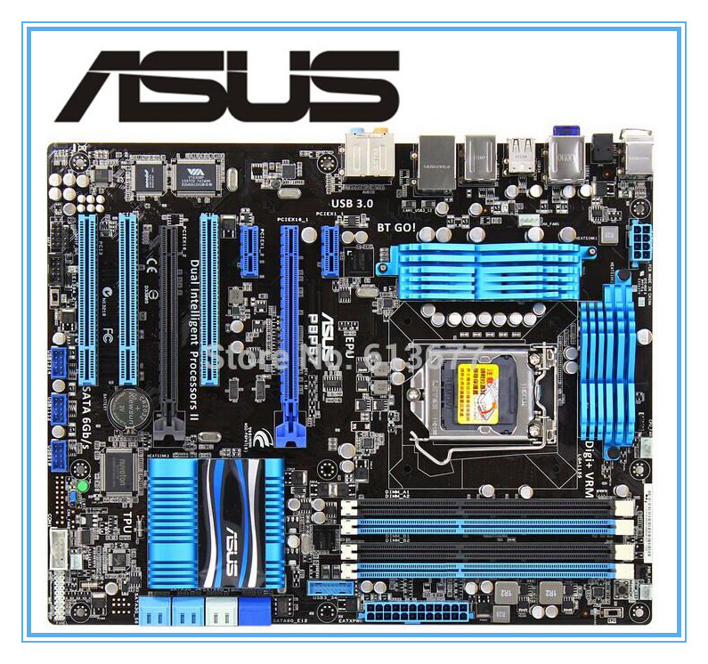 ASUS P8P67 100% original motherboard   DDR3 LGA 1155 RAM 32G motherboards SATA3.0 USB3.0 mainboard msi original zh77a g43 motherboard ddr3 lga 1155 for i3 i5 i7 cpu 32gb usb3 0 sata3 h77 motherboard