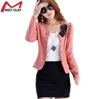 2017 Blazer Women Double Breasted Floral Suits Elegant Suit Jacket Casual Blaser Plus Size Cape Blazer