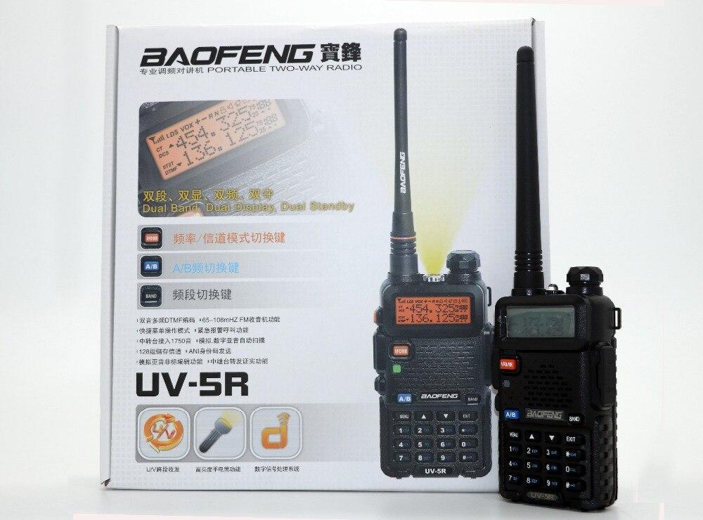 BaoFeng UV-5R Talkie Walkie UHF VHF Double Bande UV5R CB Radio 128CH VOX lampe de Poche Double Affichage FM Émetteur-Récepteur Radio 5 couleur
