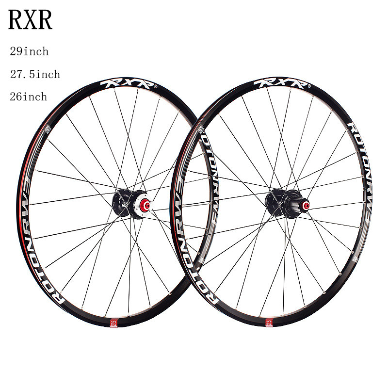 MTB mountain bike bicycle CNC hollow front 2 rear 5 sealed bearings hub 26/27.5/29inch bicycle wheels wheelset rim купить недорого в Москве