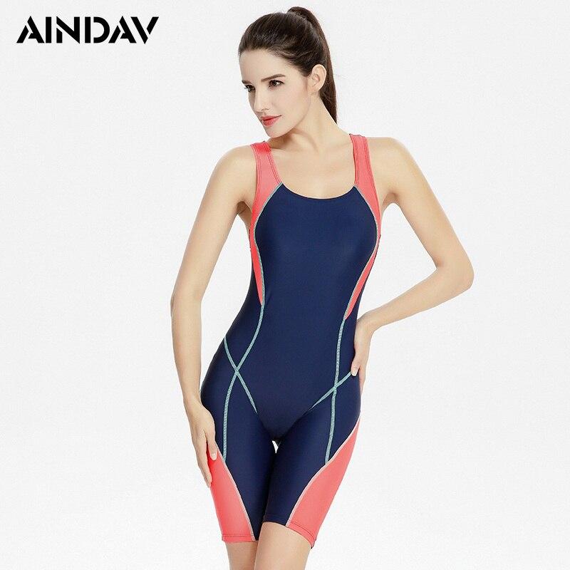 Professional Swimwear Fifth Panties Swimsuit Women One Piece Sport Bathing Suit Rash -6192