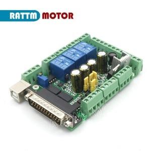 Image 3 - CNC 4 Axis Kit Nema 34 stepper motor 154mm (Dul shaft ) 1600 oz in 5A + CW8060 80VDC 6A motor driver + 145A 6 axis MACH3 board
