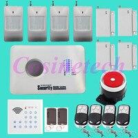 Дешевая Классическая SMS GSM сигнализация система домашней безопасности сигнализация с дистанционным управлением клавиатуры, RFID тег, PIR детек