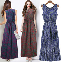 2016 Summer Style Bohemian Retro Floral Slim Maternity Maxi Long Dress Europe Station Style Women Clothes for Pregnant Vestidos