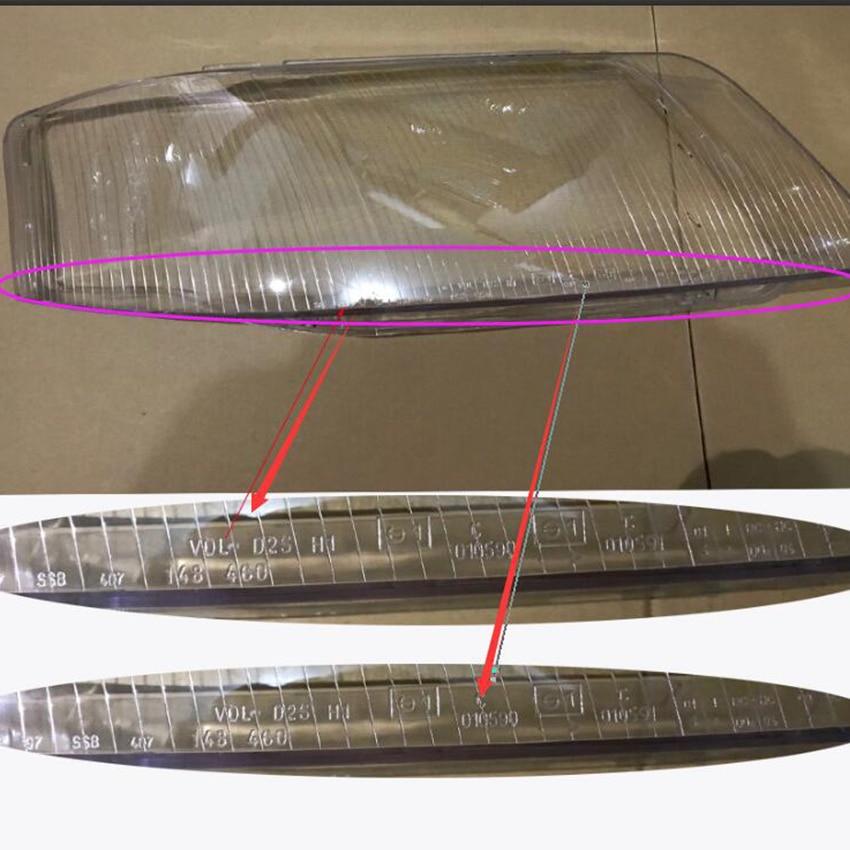 A6 c5 עדשה שקוף אהיל פנס כיסוי שקוף פלסטיק מנורת הגנת כיסוי זכוכית כיסוי לאאודי A6 C5 1999- 2002