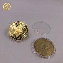 CO011 Eth Программирование эфириума сувенир Биткоин Великолепная позолоченная монета Для памятных коллекционных монет и подарков