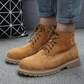 New Autmn Winter Men Boots Suede Ankle Short Botas Fashion Casual Martin Boots Warm Fur Women Snow Boots Plus Size 35-45