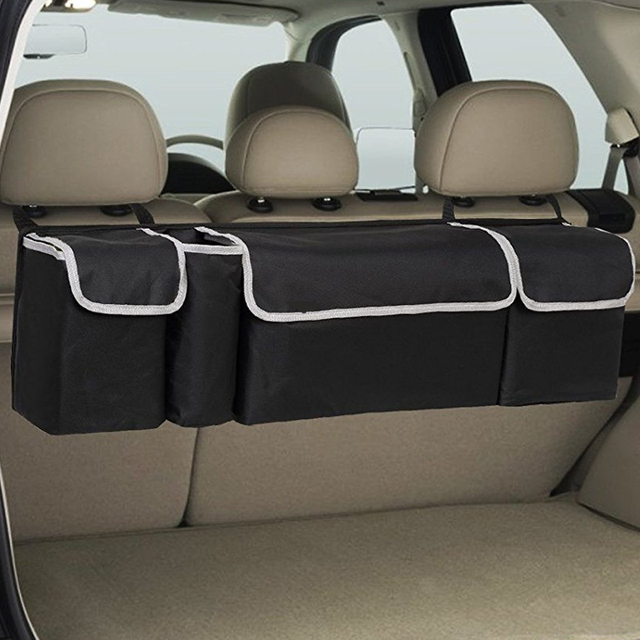 90cm Car Seat Organizer Backseat Car Storage Trunk Organizer Box Bag Oxford Car Seat Back Organiser Interior Accessories Cargo
