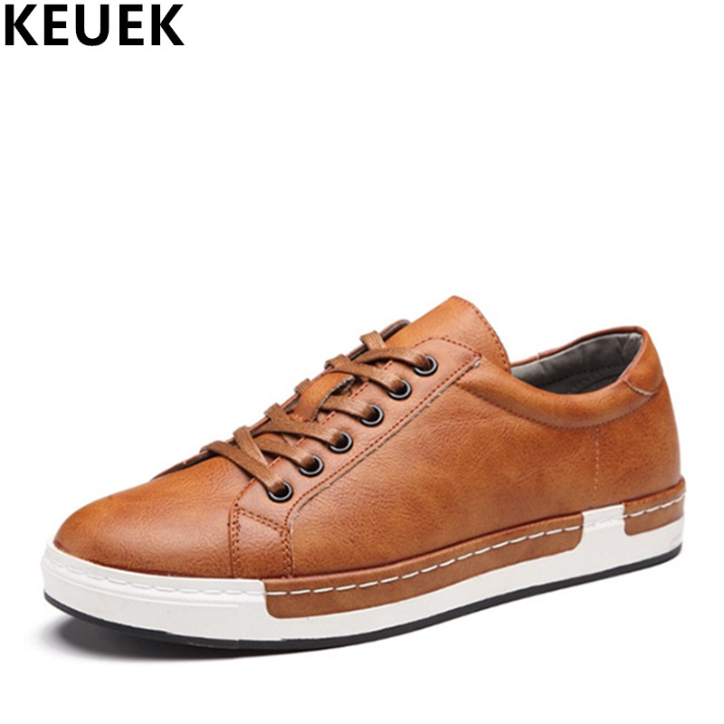 Large size Fashion Men Casual shoes Breathable Lace-Up Flats Male Loafers Driving shoes Outdoor Men Sneakers 061