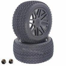 2 Unids 88 MM RC 1/10 Buggy Ruedas Traseras Neumáticos De Goma Hexagonal 12mm Ancho: 41mm Para El Control Remoto Manía de Control de Piezas de Automóviles