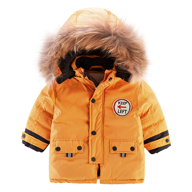 Fashion Children Winter Clothes Fur Collar Jacket Children Clothing Windbreaker Jean Jackets Children Hooded Thick Warm Coat winter jacket women hooded thick casual jackets luxury leather and fur warm jackets fsahion clothing from china