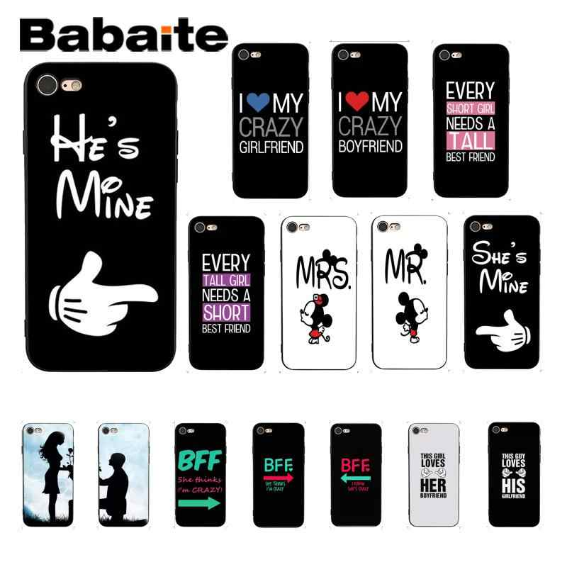 629385a303 Babaite Mr. and Mrs couple BFF DIY Printing Drawing Phone Case for iPhone 8  7