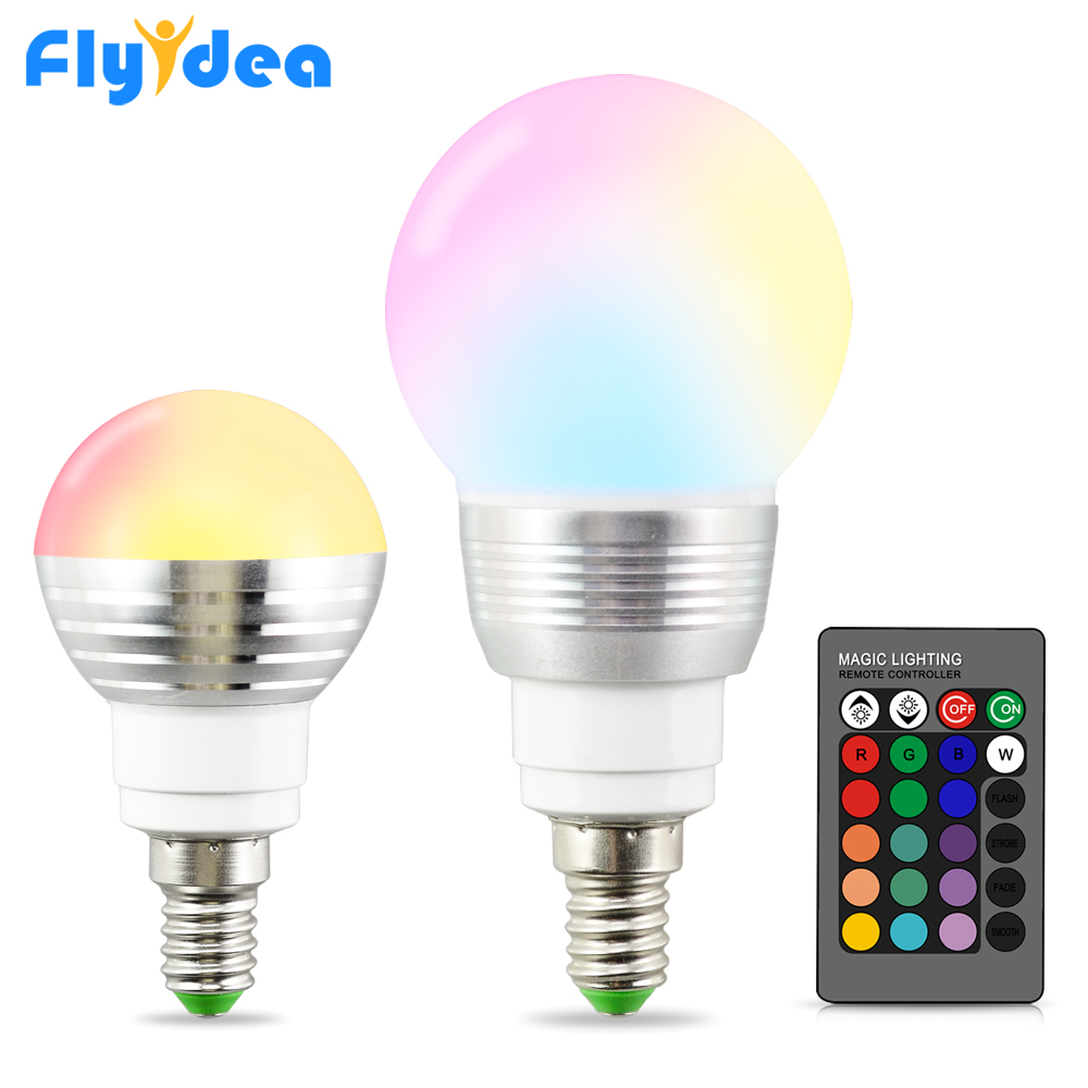 16 Color Magic LED Lamp E14 Rgb Bulb Night Light 24key IR Remote Control 110V 220V Home Holiday Dimmable Stage Smart Light Bulb